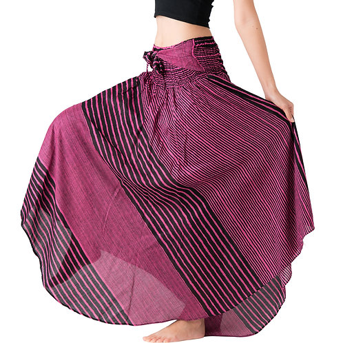 BS029 Maxi Skirt Striped Pink
