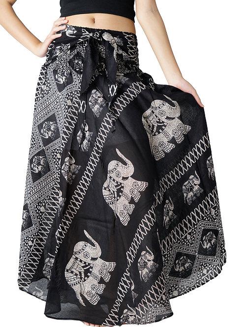 BS001 Maxi Skirt Elephant Black