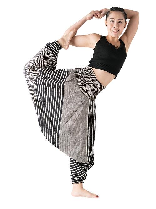 BHP001 Harem Pants Black Stripe