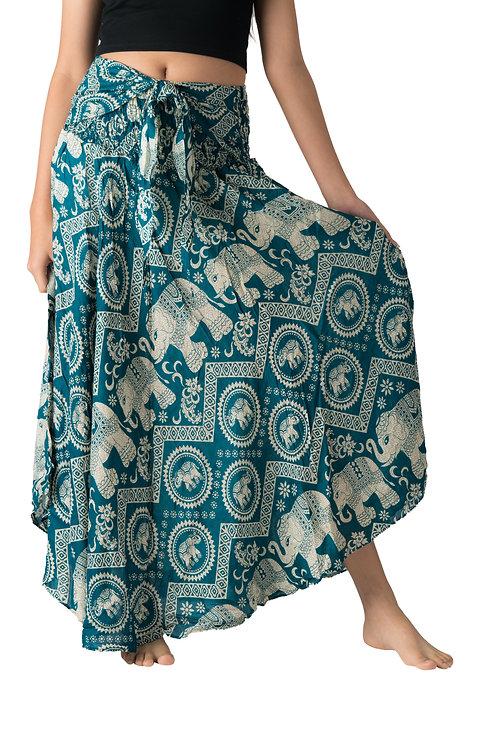 BS016 Maxi Skirt Elephant Green
