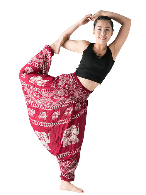 BHP011 Harem Pants Elephant Red