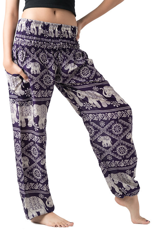 BP024 Long Pants Elephant Purple
