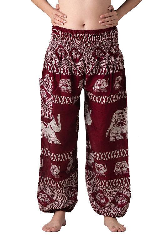 BP009 Long Pants Elephant Red