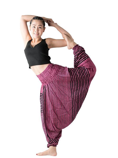 BHP004 Harem Pants Pink Stripe
