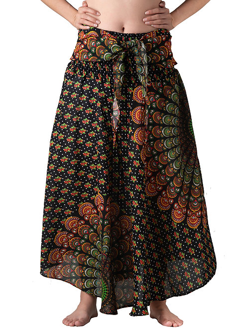 BS003 Maxi Skirt Peacock Brown