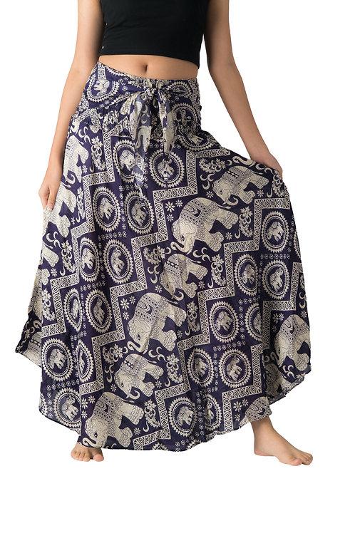 BS015 Maxi Skirt Elephant Purple