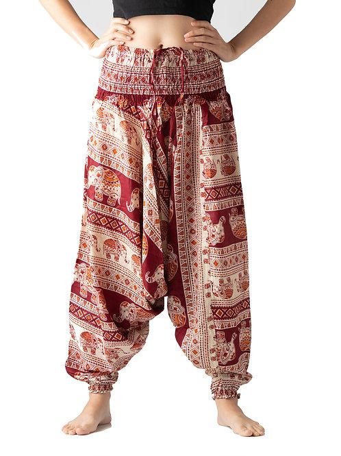 BHP027 Harem Pants Elephant Red