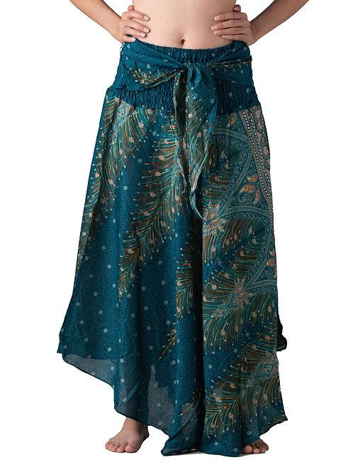 BS006 Maxi Skirt Peacock Green