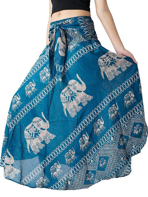 BS008 Maxi Skirt Elephant Blue