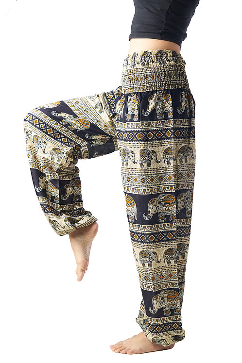 BP011 Long Pants Elephant Black
