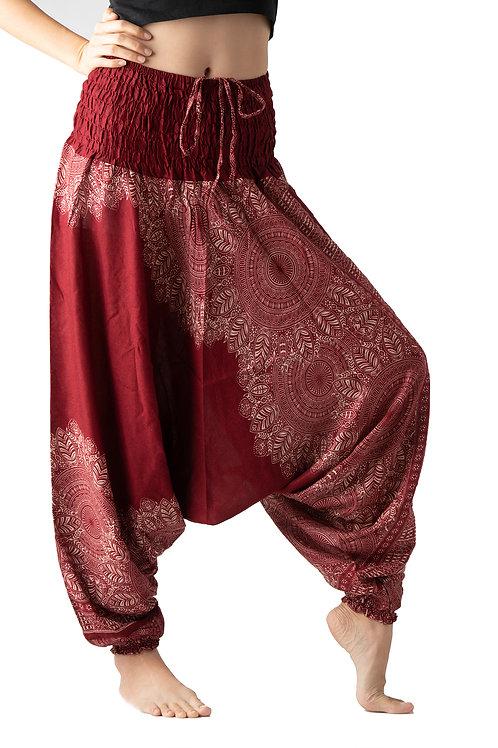 BHP017 Harem Pants Flower Red