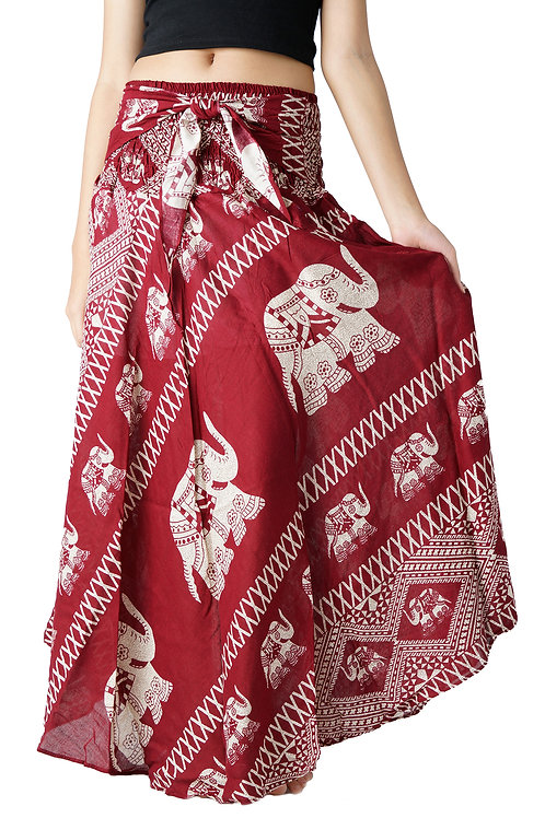 BS002 Maxi Skirt Elephant Red