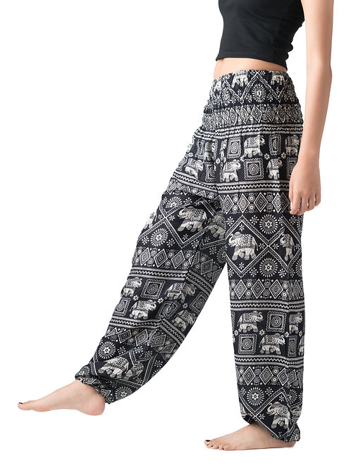 BP039 Long Pants Elephant Black
