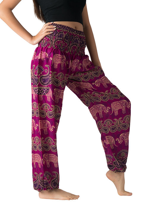 BP030 Long Pants Elephant Purple