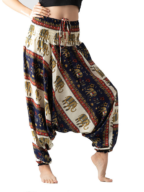 BHP029 Harem Pants Elephant Navy