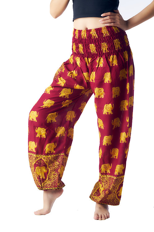 BP028 Long Pants Elephant Crimson