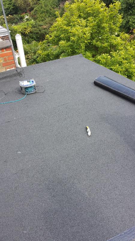 Flat Roof Felt Underlay Laid