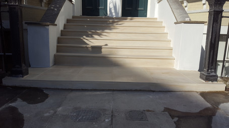 Bullnose Natural Stone Steps in Oval, London, SW9