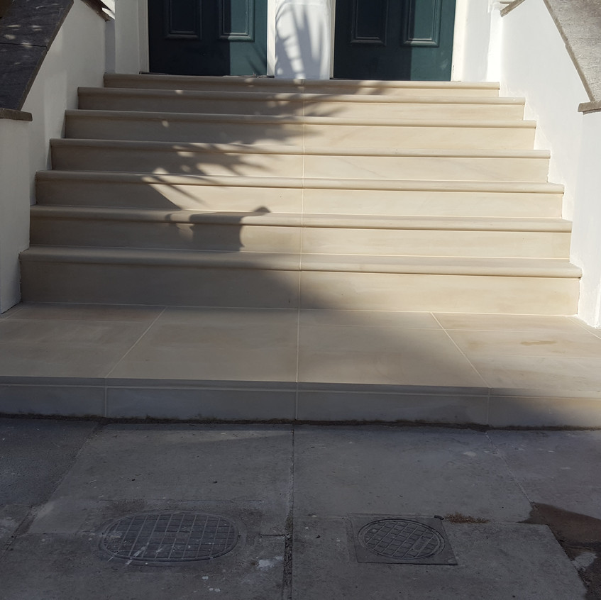 View of new steps, Oval, NW9
