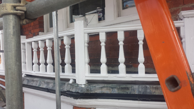 Painting Exterior Woodwork In Highgate, London, N6