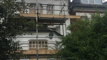 Painting Exterior Windows, Walls and Front Door In Crouch End, N8