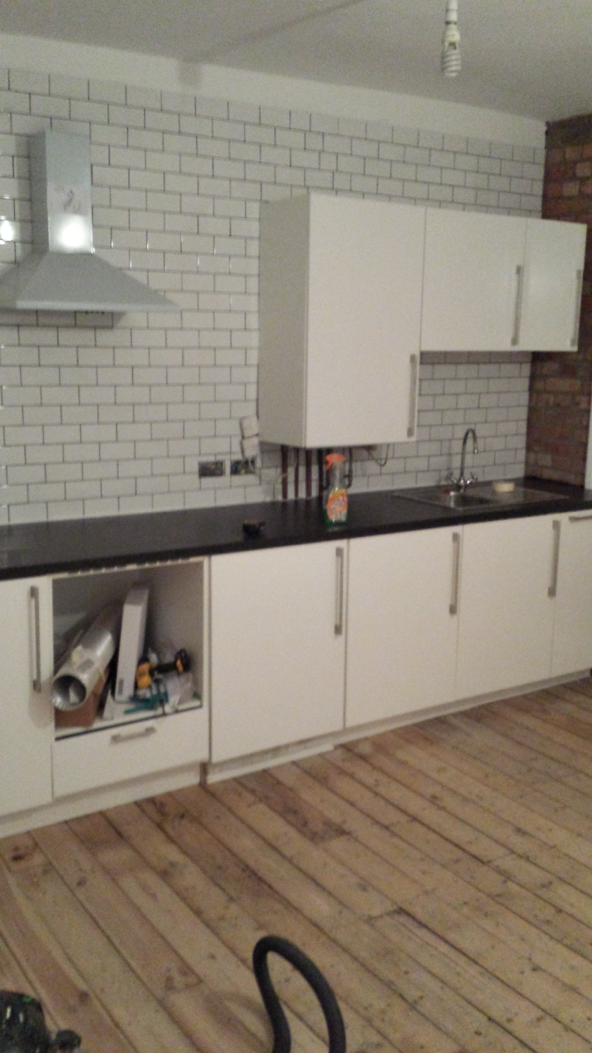 Installing new kitchen units, London