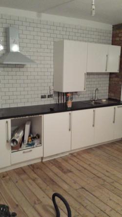 Installing new kitchen units, London