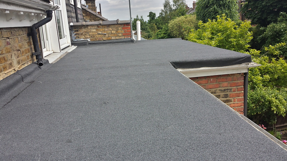 Finished Flat Roof With Top Felt