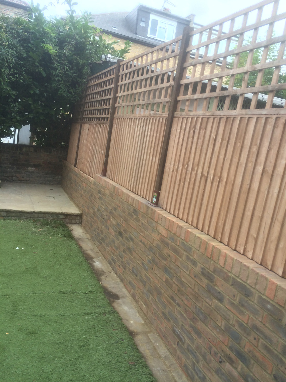 Garden Wall And Fence With Trellis