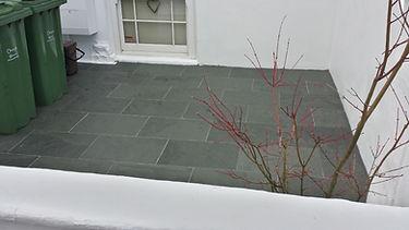 Natural Slate Paving Front Garden