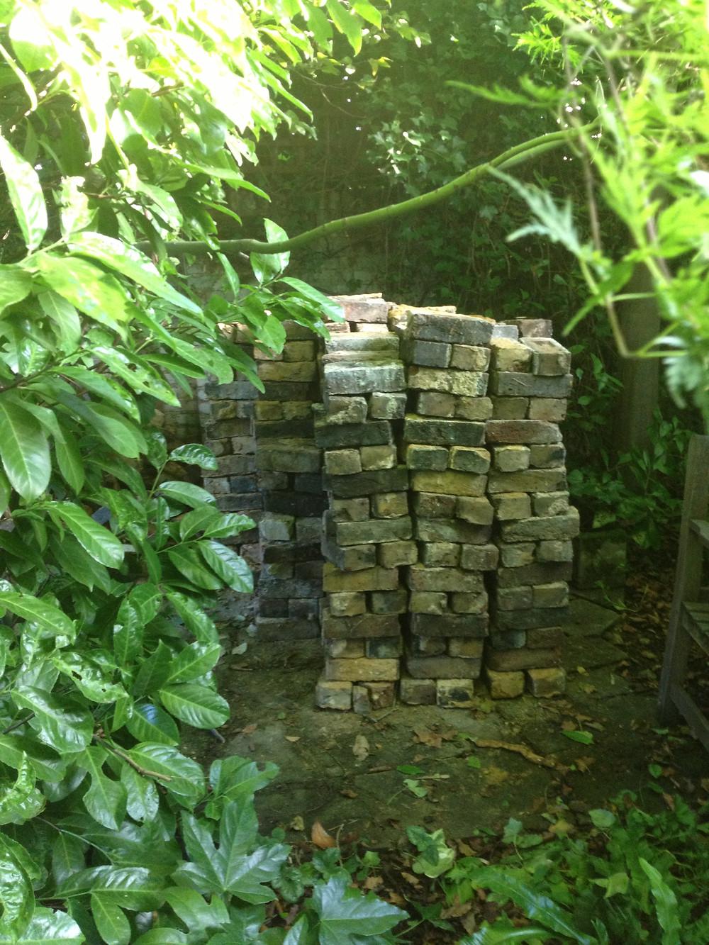 Reclaimed Bricks for Garden Wall