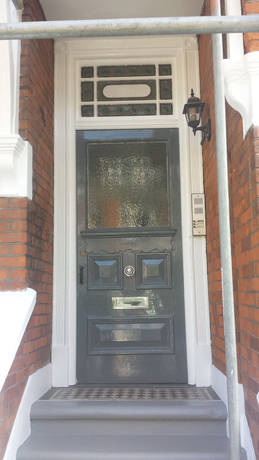 Finished painted front door with exterior gloss Highgate, London, N6