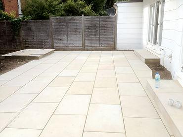 Large White Paving Tiles