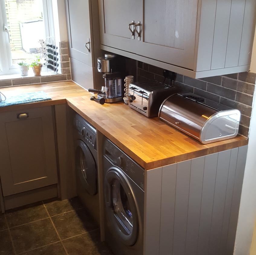 Solid wood worktop new kitchen
