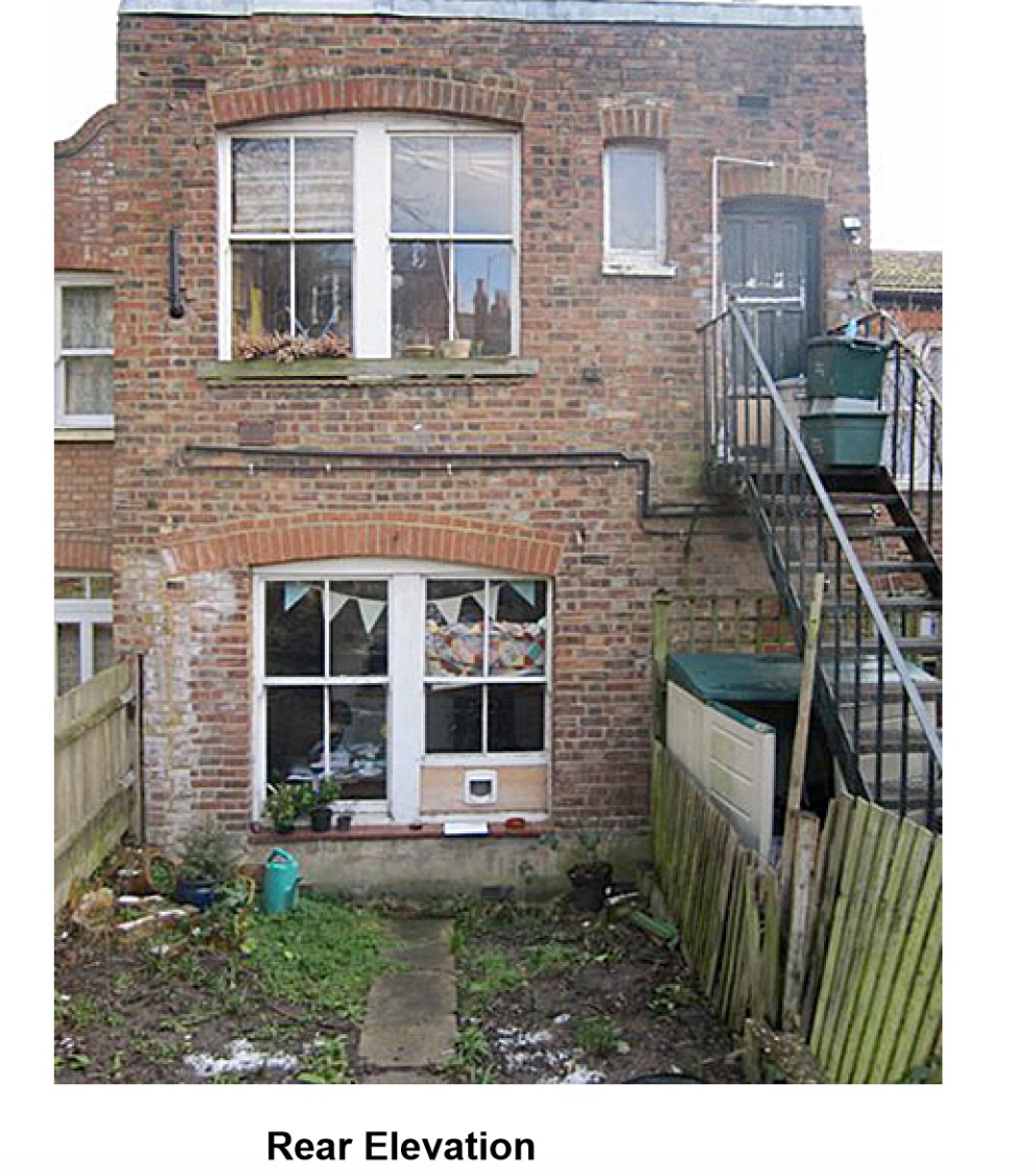 Original State of back garden Muswell Hill, London, N10