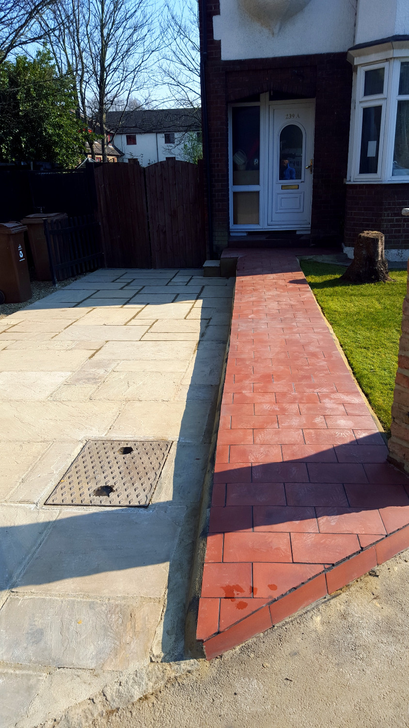 Finished front garden landscaping, Walthamstow, E17
