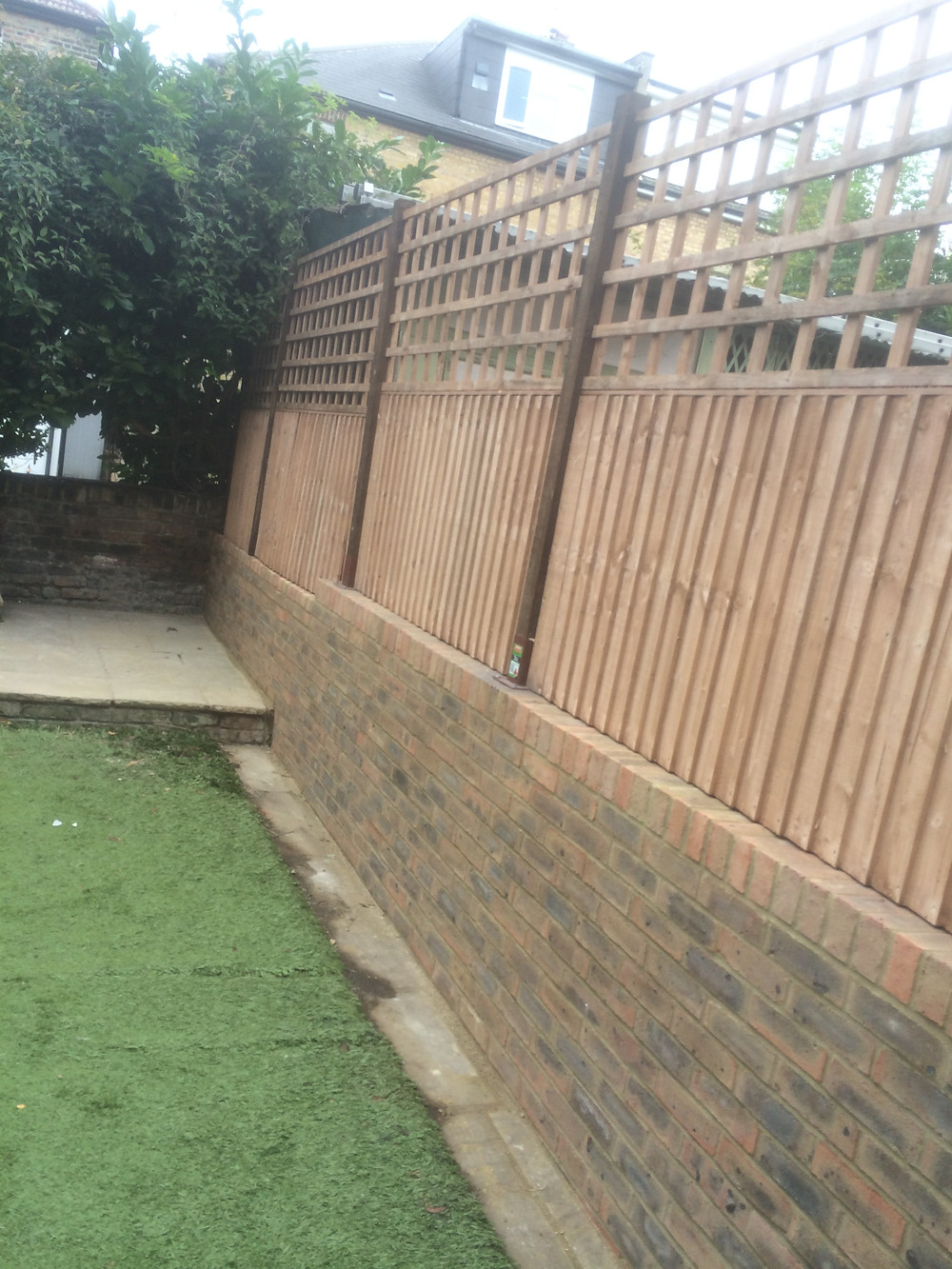 Garden Wall With Fence On Top