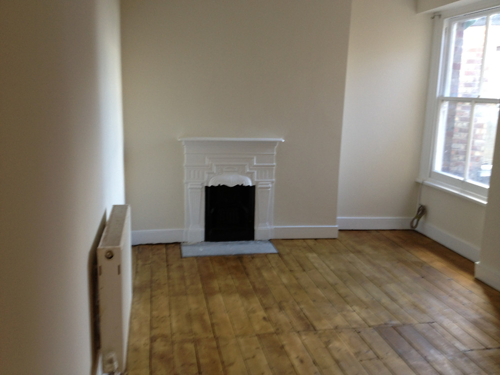 repaired and varnished wood floor