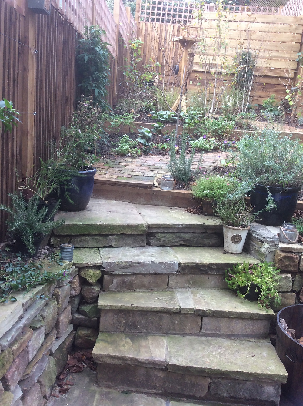 Finished garden after landscaping Muswell Hill, London, N10