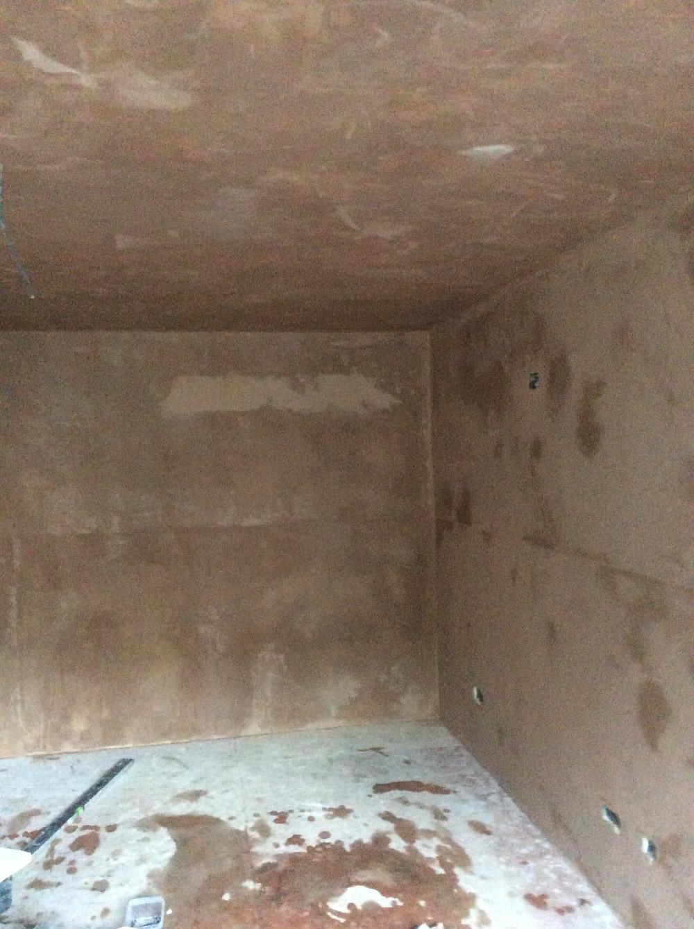 Plastered Walls and Ceiling of Garden Studio  Stoke Newington, London, N16