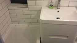Fitting new bath and wash basin