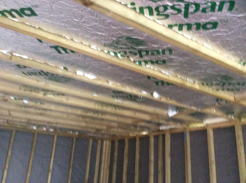 100mm Insulation between joists  Stoke Newington, London, N16