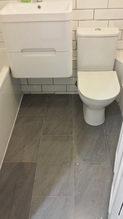 Installing new toilet and sink