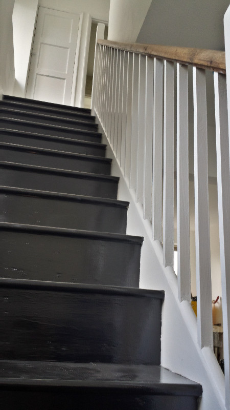 Painted banister and staircase  Muswell Hill, London, N10