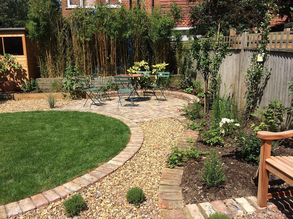 Garden Landscaping Sitting Area