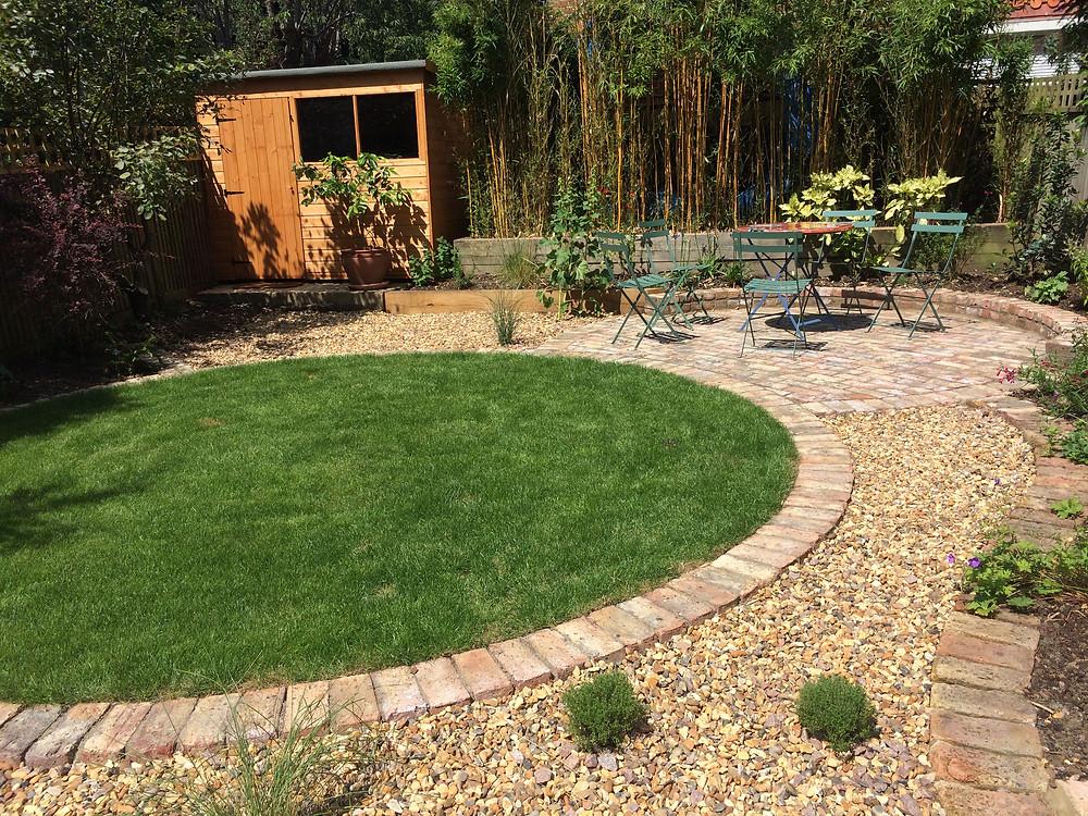 Grass turf circle