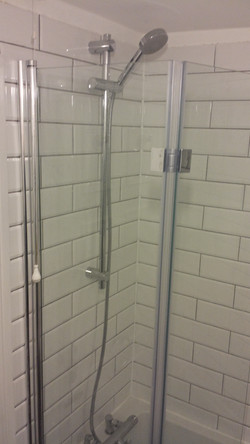 Fitting new shower mixer and screen