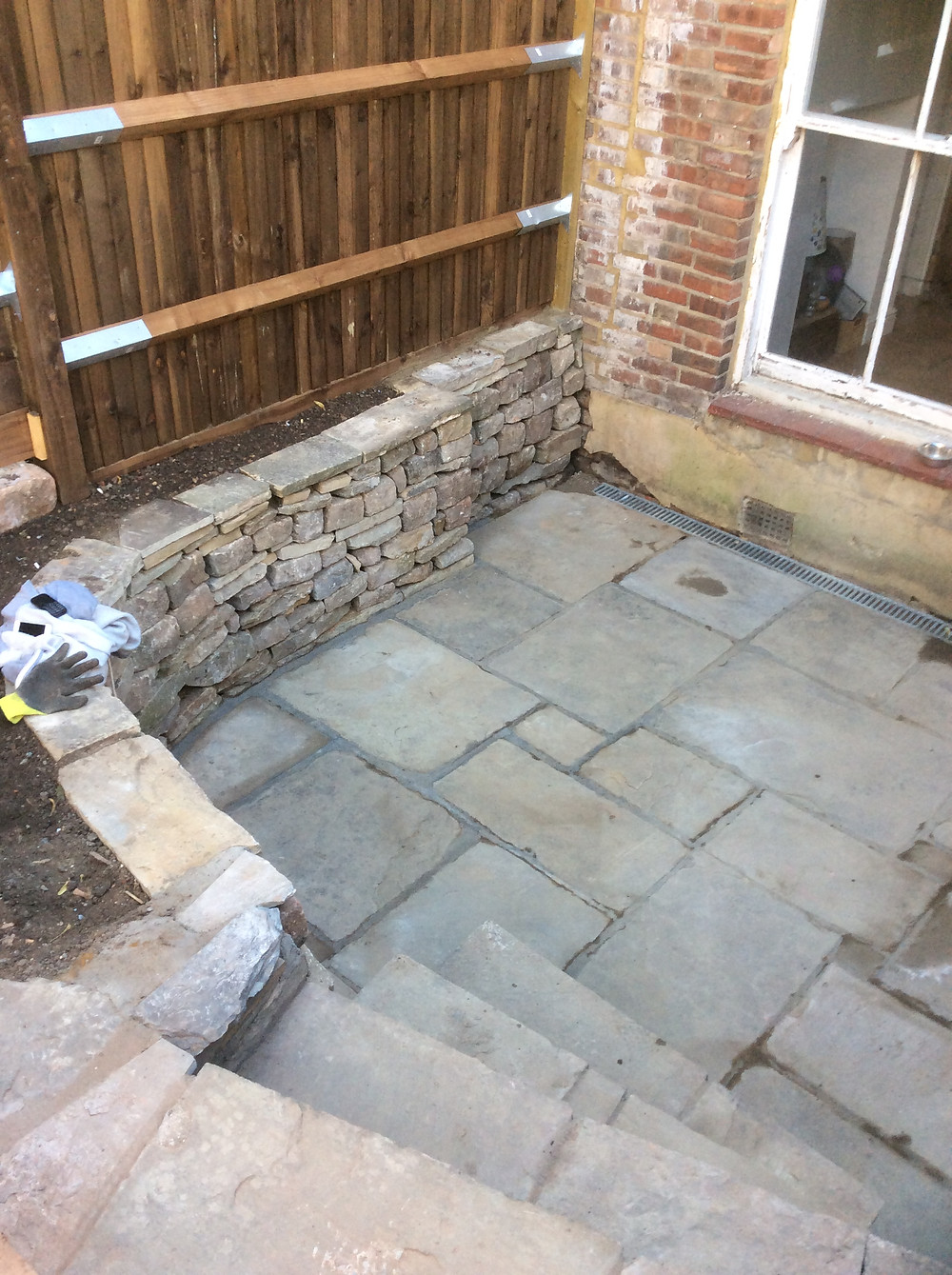 Reclaimed Yorkstone Paving Muswell Hill, London, N10