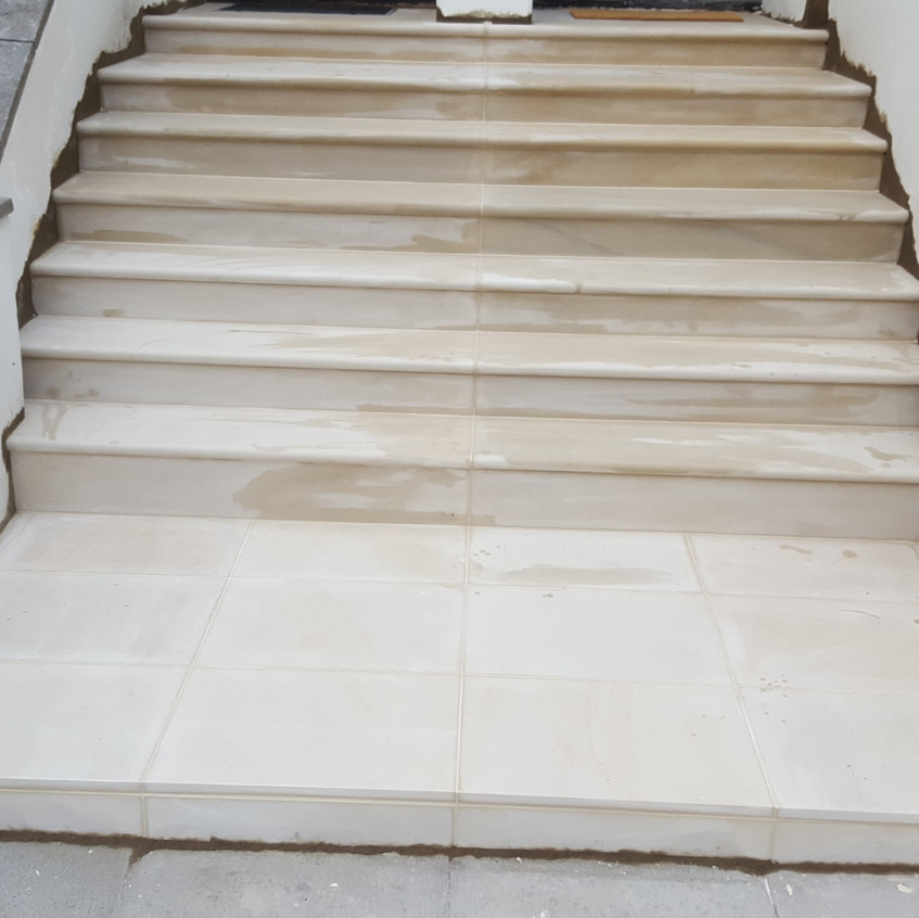 Rendering sides of new steps, NW9