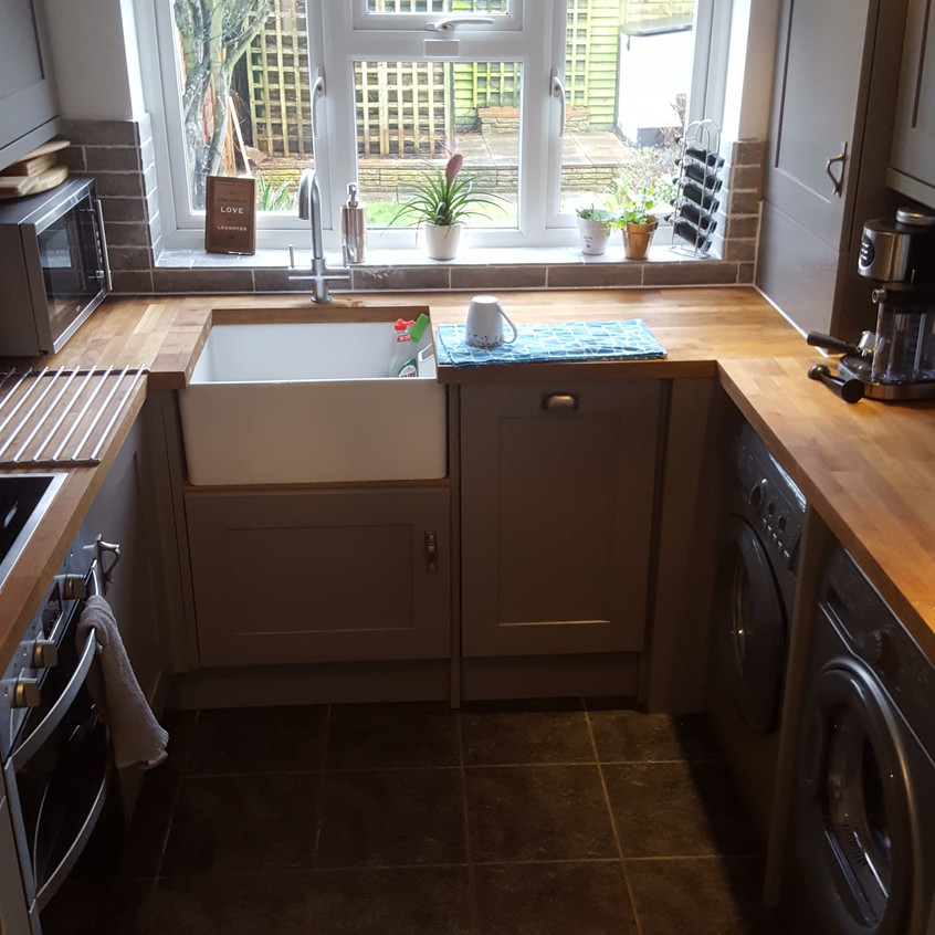 Belfast Sink with solid wood worktop